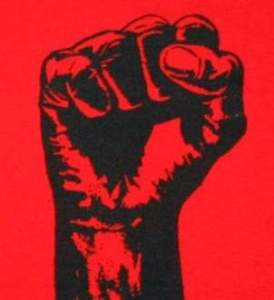 RED BLACK FIST